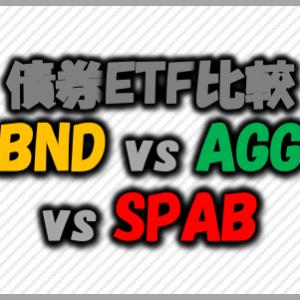 債券ETF比較BND、AGG、SPAB